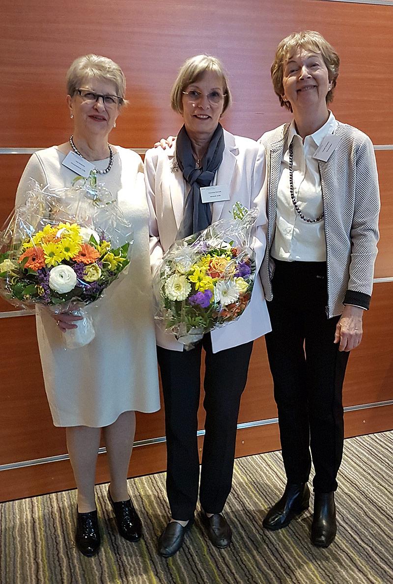 Hedi Bretscher, Rosmarie Zimmerli und Elsbeth Schreiber