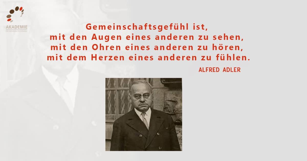 Alfred Adler Zitat Gemeinschaftsgefühl