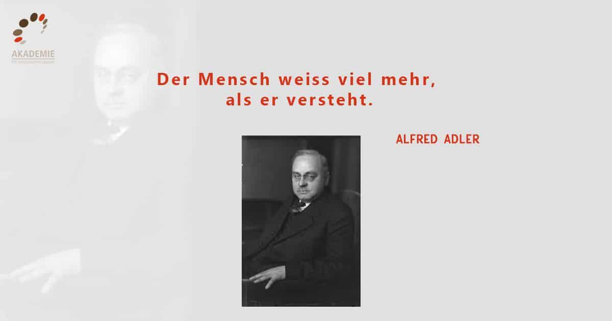 Alfred Adler Zitat Mensch