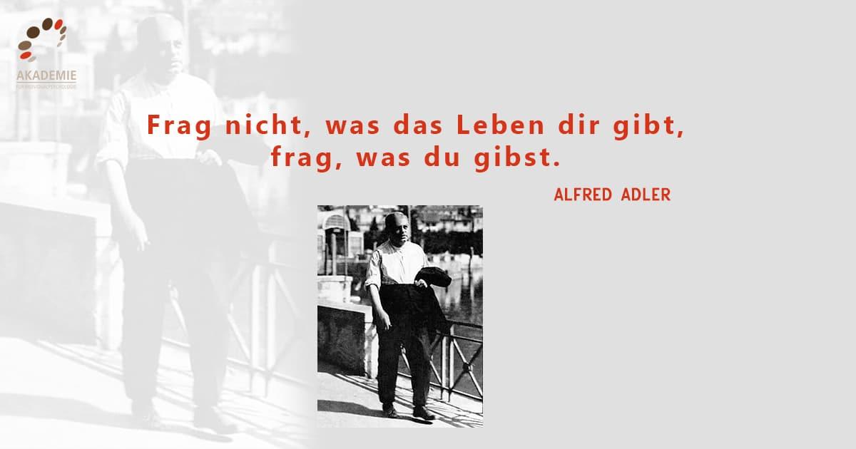 Alfred Adler - Zitat